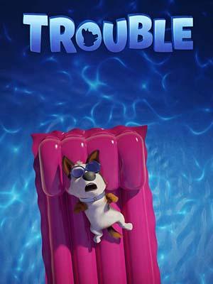 ct1344 : หนังการ์ตูน Trouble ตูบทรอเบิล ไฮโซจรจัด DVD 1 แผ่น